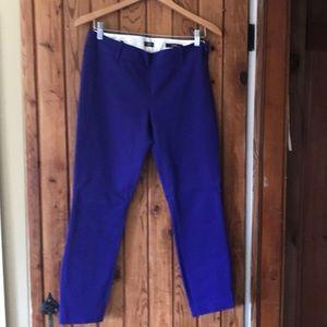 J. Crew Royal Blue Minnie Pants in Stretch Cotton